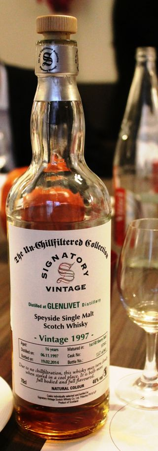 Whisky glenlivet vintage 97