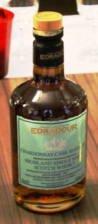 Whisky Edradour single malt chardonnay
