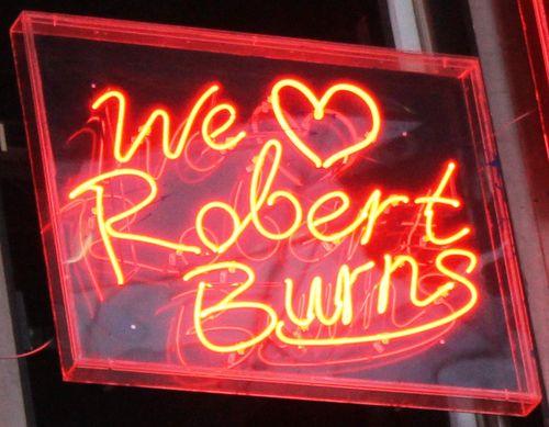 We love R Burns
