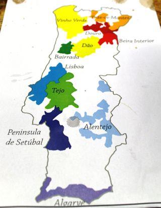 Carte région viticoles