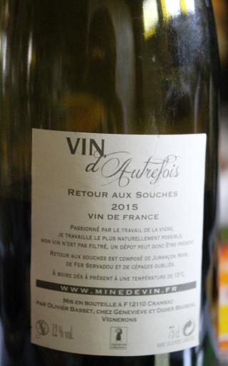 Mine de vin Vin d'Autrefois 2015