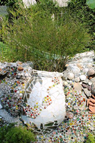 Mur de jarre et de billes