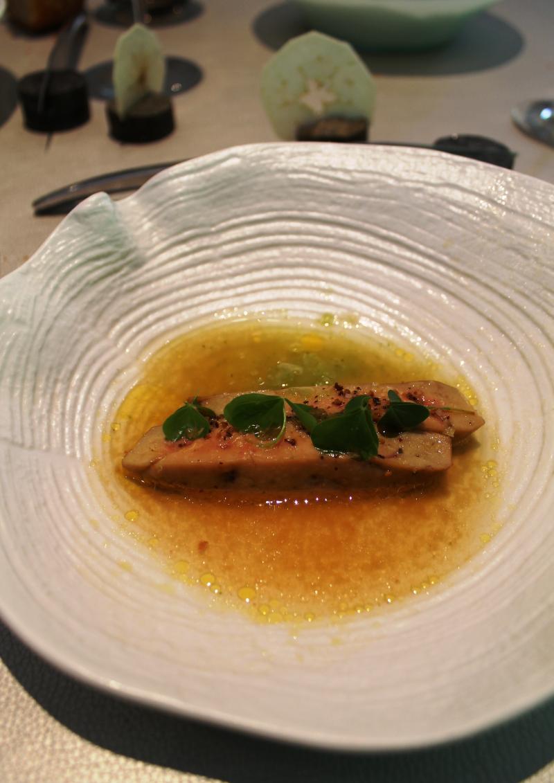 Déj Busset 3e service (foie gras cuit)